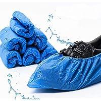 EzLife Copriscarpe Monouso Antiscivolo, 100 Pezzi Impermeabile Copriscarpe in Plastica CPE Extra Resistente Scarpa…