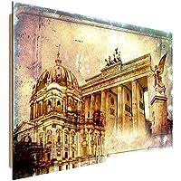 Feeby Frames, Immagine da parete, Immagine decorativa, Immagine stampata, Immagine Deco Panel, 40x50 cm, BERLINO, (3 Appartamento Porta Panel)