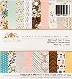 American Crafts Papel para una Sola Cara, 16.76X 15,24X 0,45cm