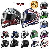 Best Motorcycle Jacks - VCAN V127 Full Face Double Sun Visor Motorbike Review