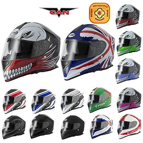 Casco del motociclo della motocicletta della visiera di VCAN V127 Full Face Union Jack M