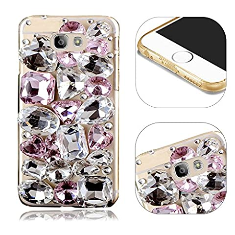 Galaxy A5 2016 A510 3D Handmade Diamant Coque Cover Luxe Shinny Shining Telephone Arrière Case Cover Protecteur Shell,MingKun Antidérapant Anti-drop Résistance au tremblement de terre Hull pour Samsung Galaxy A5 2016 A510 Bling Brillant Cristal Strass Etui