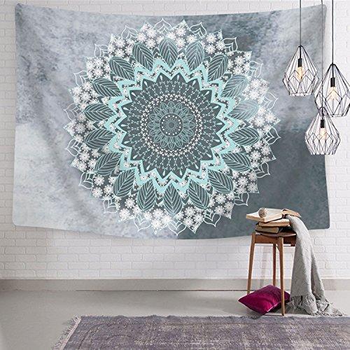 Tapiz Mandala Hippie bohemio tapices colgante de pared de diseño psicodélico tapiz colgar en la pared Indian dormitorio Decor para salón o dormitorio, Mandala, 51 x 59 inches
