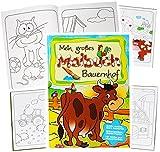 alles-meine.de GmbH 1 Stück _ Großes XL Malbuch - A4 -  Bauernhof & Tiere  - Große Motive - 80 S..