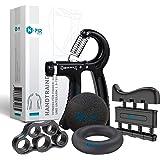 N-PIR Premium handtrainer, 5-delige set, verschillende gewichtsniveaus, perfect voor grip, onderarm en vingertraining, Duits