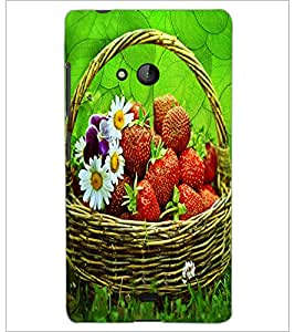 PrintDhaba Flower Bucket D-3416 Back Case Cover for MICROSOFT LUMIA 540 (Multi-Coloured)