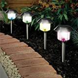 10 x Colour Changing Solar Power Light LED Post Outdoor Lighting Powered Garden - A Great Addition For Your Garden.