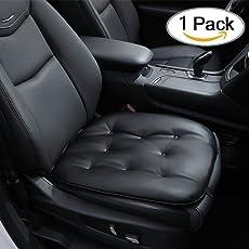Big Hippo Auto Sitzkissen - Weiches Autositzkissen Sitzbezüge Leder, Bequeme Sitzauflage Universal Auto Sitzauflagen, Schwarz