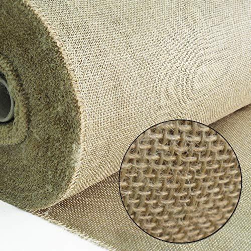 100% Natürliche Stoffe (Roban Fashion Jute Stoff Fortlaufend 100 breit natürlicher Stoff meterware Sackleinen für Haus & Garten)
