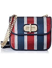 Tommy Hilfiger Turn Lock Crossover Sequins - Borse a tracolla Donna, Blau (Corporate), 2,5x25x16 cm (B x H T)
