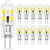 Ampoule G4 LED 2W AC/DC 12V, Ampoules d'éclairage équivalent à 10W 20W Halogène, Blanc Froid 6000K, Non Dimmable, pour Hotte