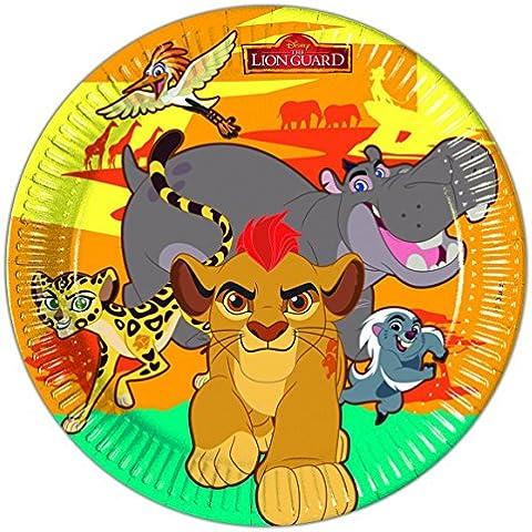 8 Platos EL REY LEÓN de Disney para Cumpleaños niños o Fiesta temática Fiesta Plato fiesta Platos de papel Placas Lema THE LION GUARD Simba Kian Nala Timon Pumba Mufasa Zazu Hakuna