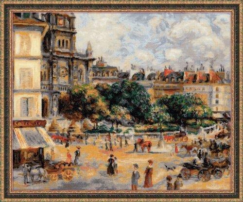 """Riolis 1396 Kreuzstich-Set """"Paris: Straße der Dreieinigkeit"""", Baumwolle, Mehrfarbig, 60 x 50 x 0.1 cm"""