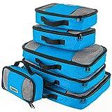 Savisto Packing Cubes - Small, Medium, Large, XL (6-Piece Set) - Blue