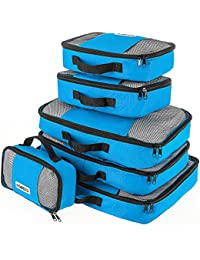 Savisto Packing Cubes - Small, Medium, Large, XL (6-Piece Set) - 6 Colours