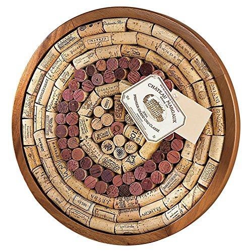 Wine Enthusiast Round Wine Cork Board Kit