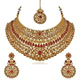#6: Gold Plated Wedding Collection Choker Necklace Set for Women