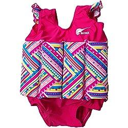 Costume de flotteur d'enfants, Bébé Garçon Fille Maillot de bain flottant Sun Protection avec Flottabilité Ajustable, UPF 50+ (Motif Rose, S)