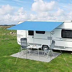 Frankana, tenda parasole universale per camper e caravan Playa, tettoia universale, 400 cm x 240cm, blu
