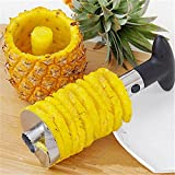 JHMART Heavy Stainless Steel Fruit Pineapple Corer Slicer Peeler Kitchen Cutter Knife