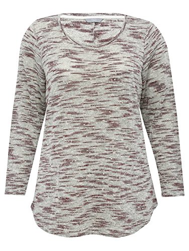 mco-ladies-plus-size-cotton-blend-three-quarter-length-sleeve-space-dye-striped-textured-jersey-top-