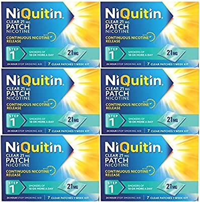NiQuitin Clear 21mg Nicotine Patch (Step 1) 42 Patches - 6 Week Kit by GlaxoSmithKline