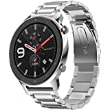 accessoryME Replacement Band Compatible with Amazfit GTR 2 / 2e, 22mm Stainless Steel Quick Release Watch Strap for Amazfit G