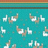 Papier Flamingos, Rosen und Lamas, beidseitig