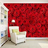 #5: 100yellow Red Roses Wallpaper Pattern (Self Adhesive) Peel and Stick Waterproof HD Wallpaper For Home Wall, Living/Drawing room, Girls room, bedroom Stylish, Kids Room, Cafe & restaurant - 5.5 Sqft
