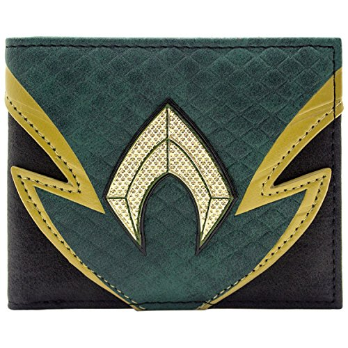 DC Aquaman Schuppenhafte Anzugart Grün Portemonnaie Geldbörse