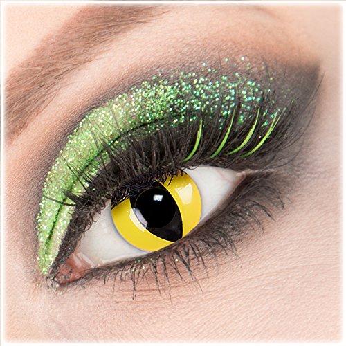 ye' Kontaktlinsen 1 Paar Crazy Fun Kontaktlinsen mit Behälter zu Fasching Karneval Halloween - Topqualität von 'Giftauge' mit Stärke -3,00 ()