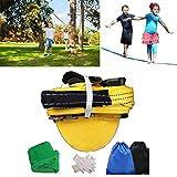 ShopSquare64 50ft Slackline Outdoor Extreme Sport Balance Trainer Slackline Mit Handschuhen Baum Beschützer Und Tasche