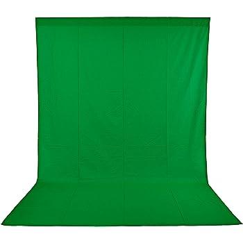 Neewer 6x9piedi/1,8x2,8m Sfondo Pro Pieghevole di 100% Mussola Fondale per Fotografia, Video e Televisione (Sfondo SOLO!) - Verde