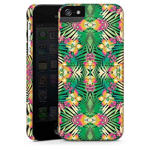 Apple iPhone X Silikon Hülle Case Schutzhülle Muster Abstrakt Tropical Premium Case StandUp