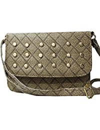 Attire Fancy Stylish Elegance Fashion Designer Sling Bag For Women & Girls(Fossil Grey)
