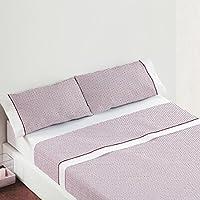 Burrito Blanco Juego de sábanas Claro de Luna 678 algodón 100% para cama individual de 105x190 cm hasta 105x200 cm color granate