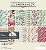 "Authentique Double-Sided Cardstock Pad 6""X6"" 24/Pkg-Jingle, 6 Designs/4 Each"