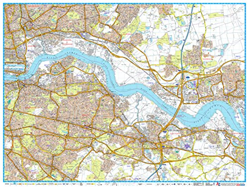 A-Z London Master Plan - East - Encapsulated (Map London A-z)