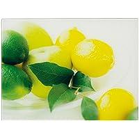 Zeller 26266 Planche à découper Motif Citron Verre Coloré 40 x 30 x 0,8 cm