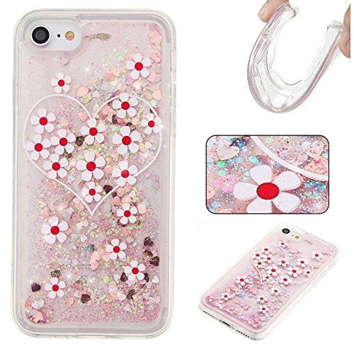 Ooboom® iPhone 5SE Hülle TPU Silikon Bumper Schutzhülle Handy Tasche Case Cover mit Funkeln Glänzend Bling Glitter - Gold Blätter Blume Liebe