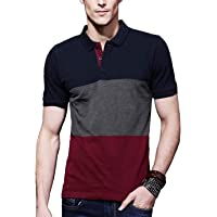 Leotude Regular Fit Half Sleeve Polo Tshirt for Men