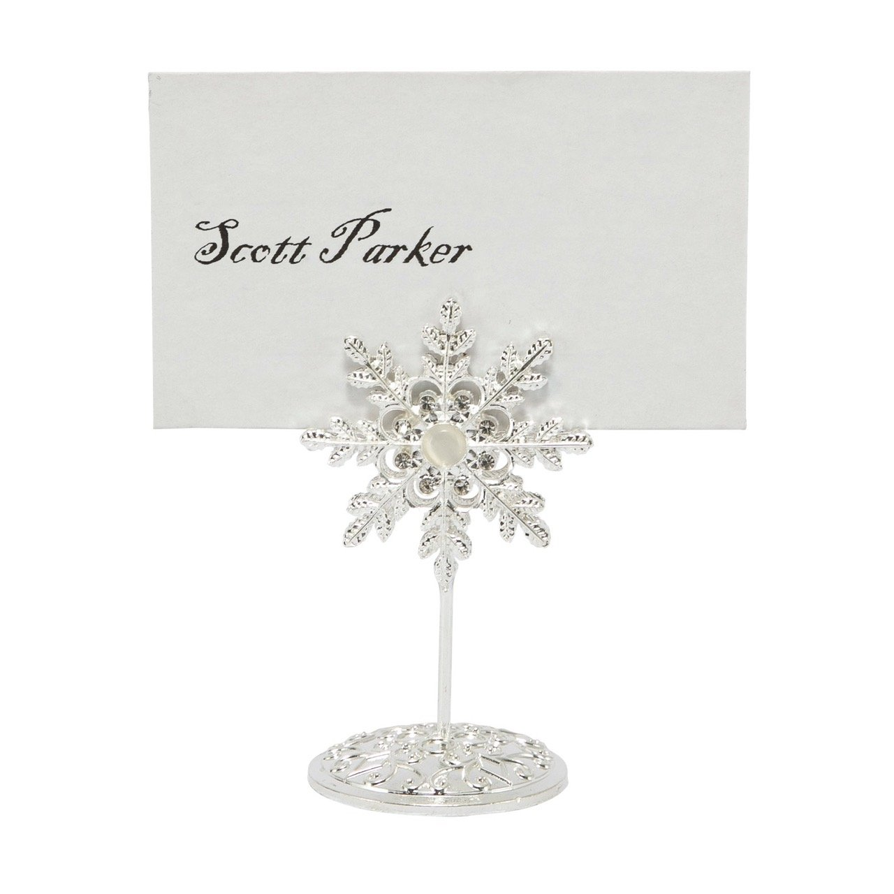 diamante silver jewelled snowflake wedding name card holders 7cm and table number holders 13cm 1 x wedding table number holder large amazoncouk
