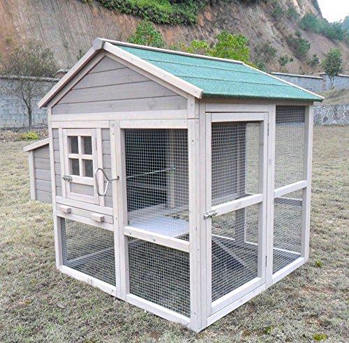 Hühnerhaus Chickenhouse Nr. 04 mit Eierbox und Freilaufbereich