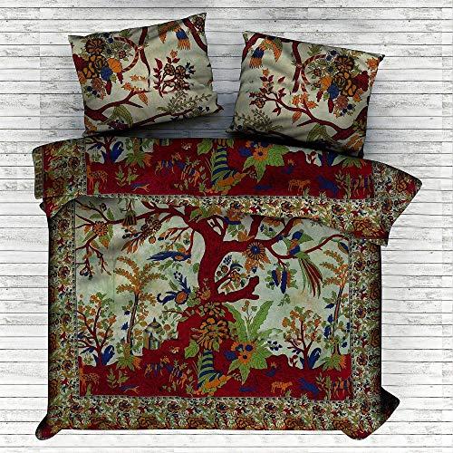 Weihnachten dekorative indische dekorative Schlafzimmer Dekor, indische Steppdecke böhmischen Tagesdekor böhmischen Bettwäsche indische Bettwäsche werfen Decken Baumwollteppiche Mandala Bettbezug (Decke Dekor Weihnachten)
