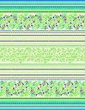 Bassetti Sorrento Tagesdecke, Baumwolle, Grün, 240 x 255 x 1 cm in
