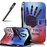 BtDuck Galaxy S4 Hülle, Weich PU Hülle Leder Tasche Stand Flip Case Schwarz Handyhülle Brieftasche mit Magnet Schutzhülle für Samsung Galaxy S4 Silikon Backcover Lederhülle
