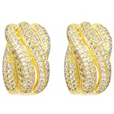 Sparkling Drop 18 K Yellow Gold Plated S...