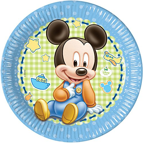 23 cm Baby Mickey Mouse Party Teller, 8 Stück