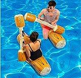 LLN Aufblasbarer Wassersport-Spielwaren-Beweglicher Schwimmer-Pool-Sattel und Kampf-Hammer mit Pumpe Für Kinder U. Erwachsener