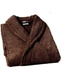 Home Basic - Albornoz con cuello tipo smoking, talla XL, color marrón